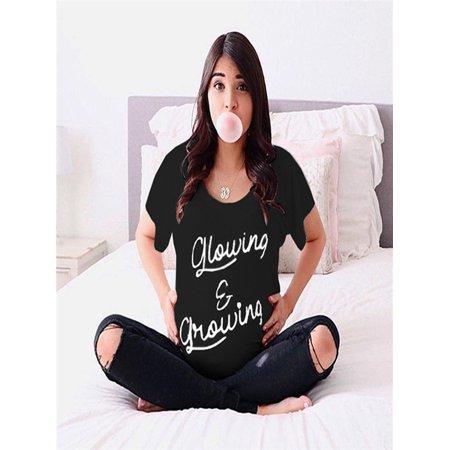 2947ad7ef13c7 Women Pregnant Short Sleeved Letter Printed Tops Loose T-Shirt Blouse -  Walmart.com