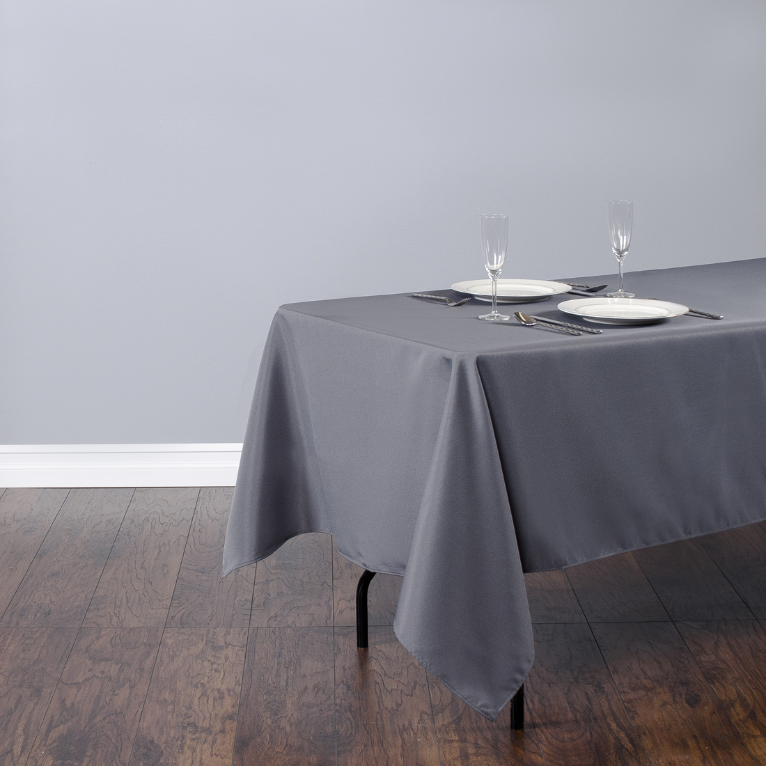 Rectangular Polyester Tablecloth Charcoal