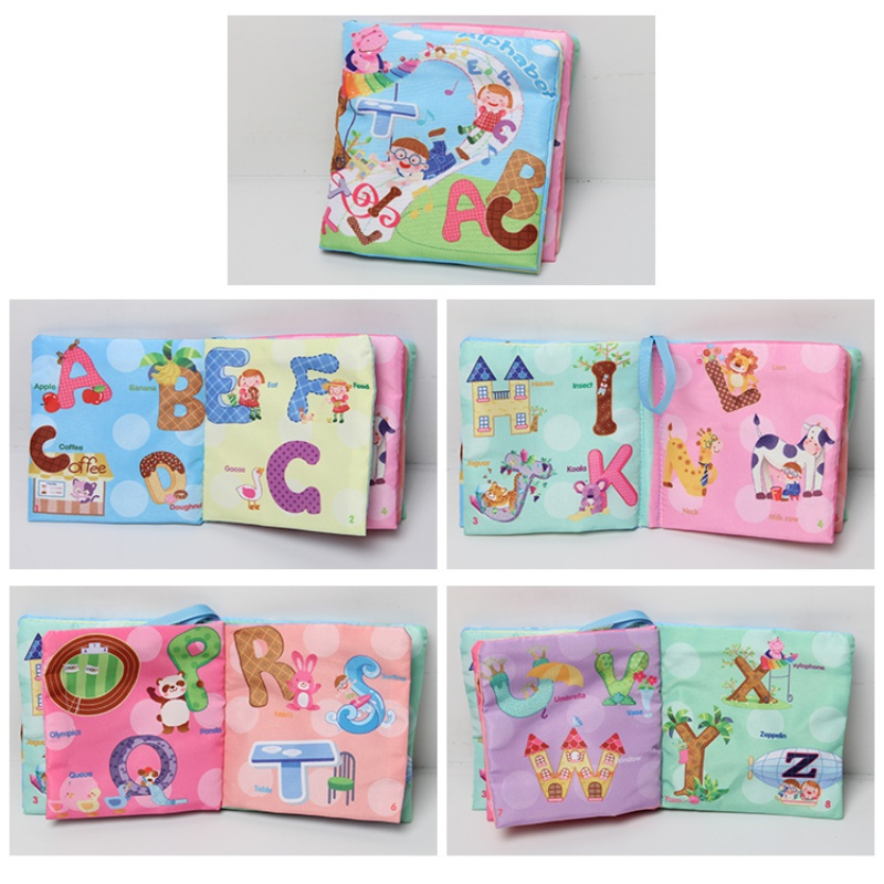 US Baby/'s First Non-Toxic Soft Fabric Cloth Book Colorful,Squeak candy