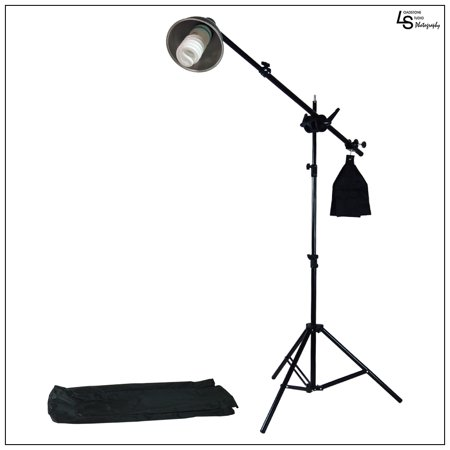 Reflector Boom Arm Extension Kit with Light Stand and 85W CFL Bulb for Photography and Video Lighting by Loadstone Studio  WMLS0219