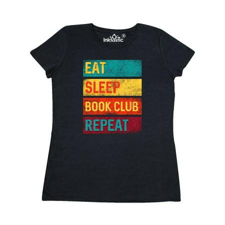 Reading Eat Sleep Book Club Repeat Women's