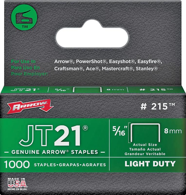 "Arrow Fastener 215 5 16"" JT21 Staples by Arrow Fastener"