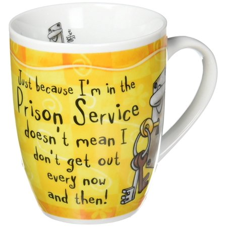 Correction Officer  Mug  Dandelion  Just Because I M In The Prison Service Doesn T Mean I Don T Get Out Every Now And Then  By Occupational Mugs