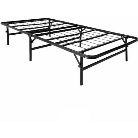 lucid foldable metal platform bed frame and mattress foundation - Metal Platform Bed Frame