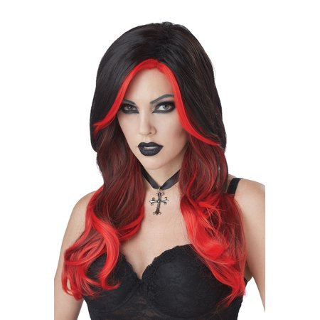 Black and Red Fatal Beauty Adult Wig