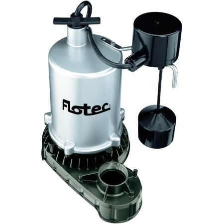 Flotec Fpzt7550 High Output Submersible Sump Pump With Vertical Float Switch  6660 Gph  1 Hp  Zinc