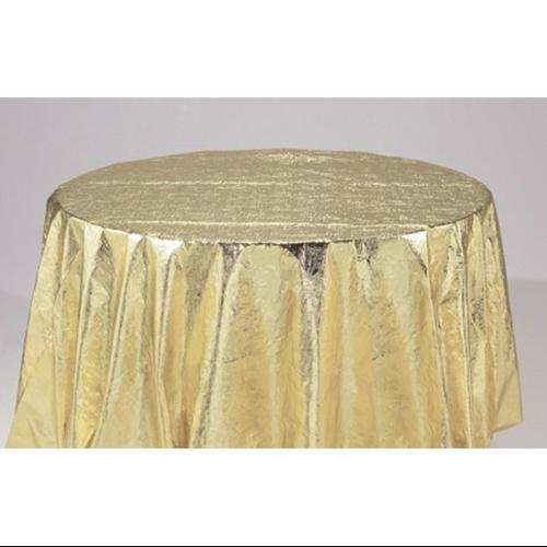 """Club Pack of 12 Round Gold Metallic Party and Banquet Table Cloths 82"""""""