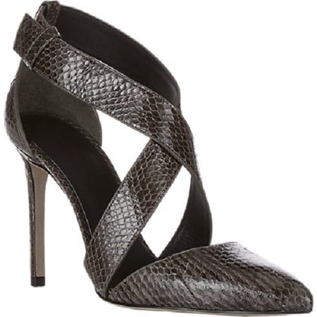 Alexander Wang Crisscross-Strap Marcelle Snakeskin Pointed Toe Pumps Size -