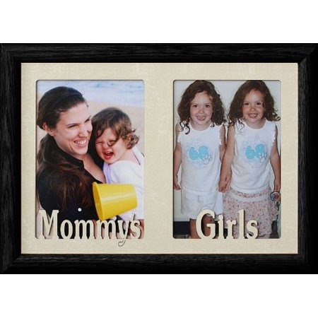 7X10 Mommys Girls Holds Two Portrait 4X6 Or Cropped 5X7 Photos W Cream Mat Great Christmas Birthday Mothers Day Gift For Mom