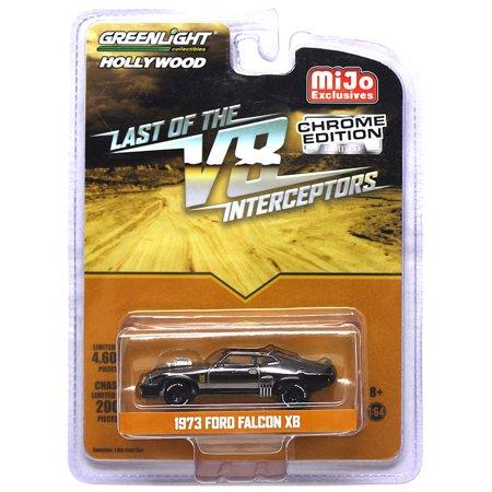 Mad Max Last of The V8 Interceptors 1973 Ford Falcon XB Chrome Greenlight Hollywood Vehicle 1:64 (Mad Max Last Of The V8 Interceptors)