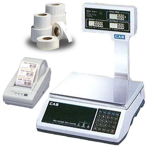 CAS JR-S2000POLE60 NTEP Scale  60 x 0 01 lb w Column  Printer   Labels