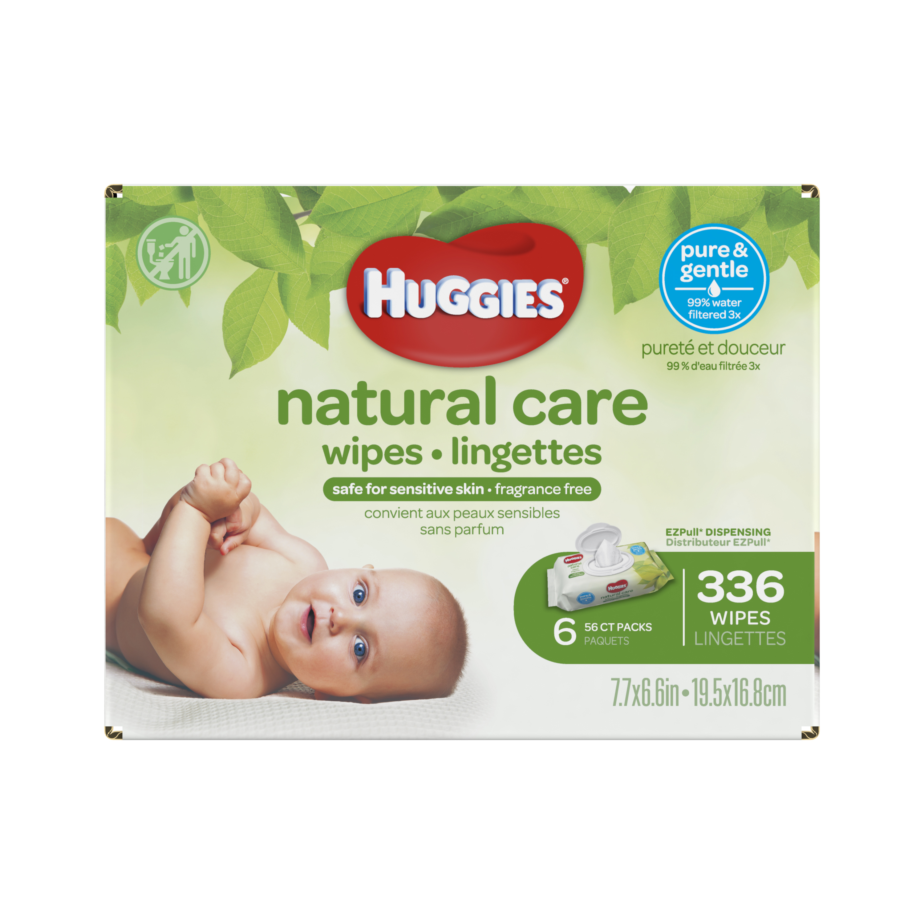 Huggies Natural Care Fragrance Free Baby Wipes - 288ct