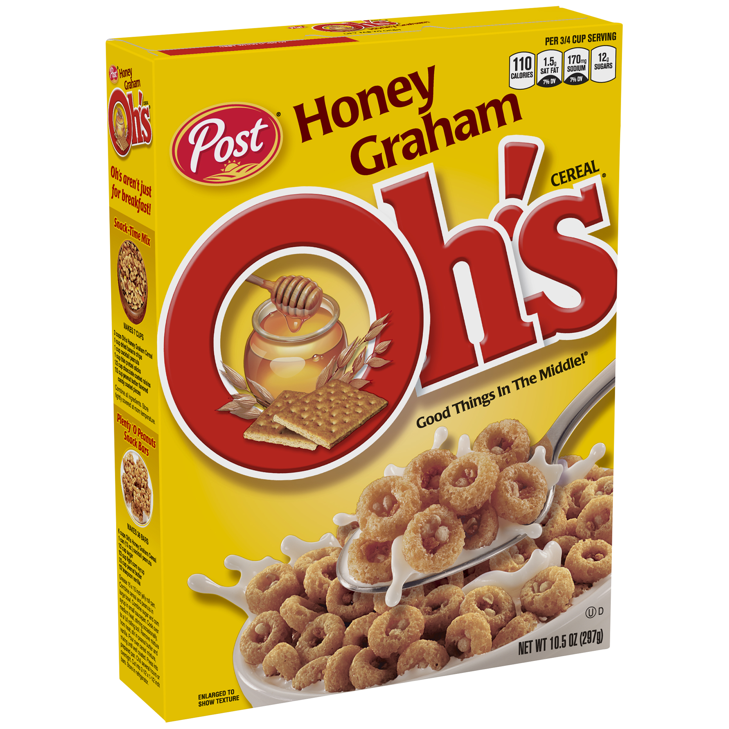 Post® Honey Graham Oh's® Cereal 10.5 oz. Box