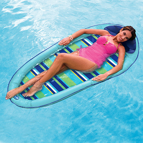SwimWays Spring Float, Blue Stripe