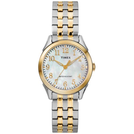 Women's Briarwood Two-Tone/MOP Watch, Stainless Steel Expansion Band