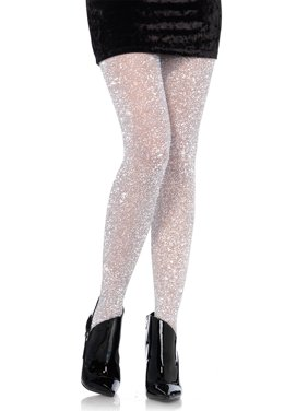 21fc3b1c038b5 Product Image Leg Avenue Women's Lurex Sparkly Shiny Glitter Footed Tights,  Gold, ...