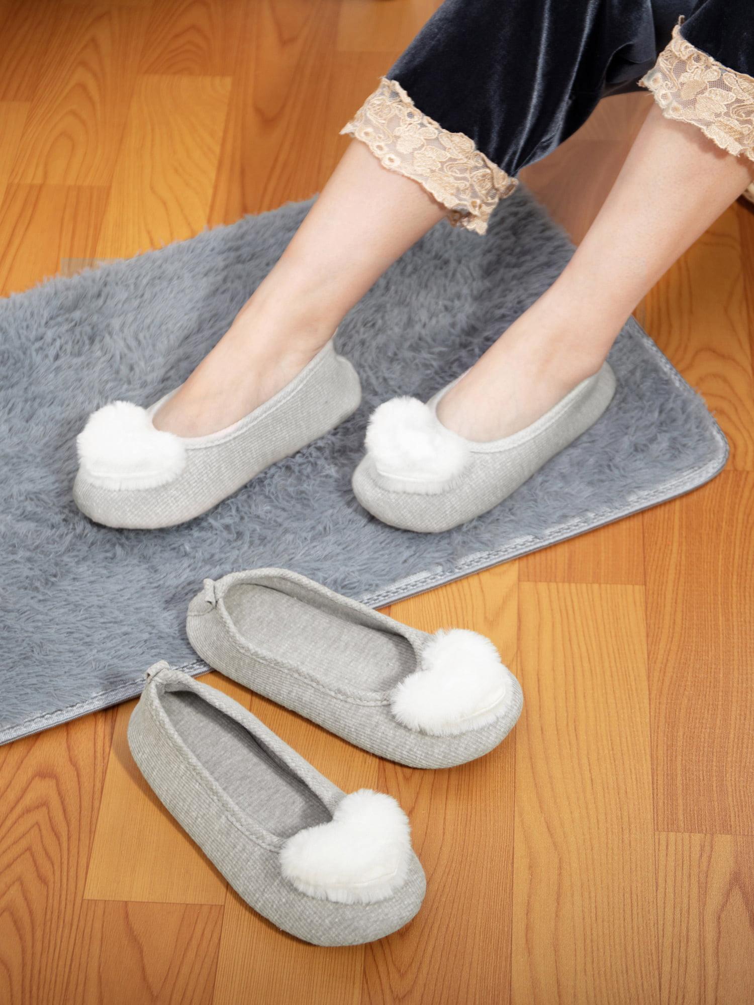2Pack Women's Memory Foam Slippers Cute