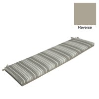 Product Image Better Homes Gardens Gray Stripe 17 X 46 In Outdoor Bench Cushion With Enviroguard