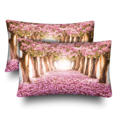 GCKG Cherry Blossom Trees Pink Floral Flower Pillow Cases Pillowcase 20x30 inches Set of 2 - image 4 of 4