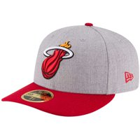 Miami Heat New Era Two-Tone Low Profile 59FIFTY Fitted Hat - Heathered Gray/Red