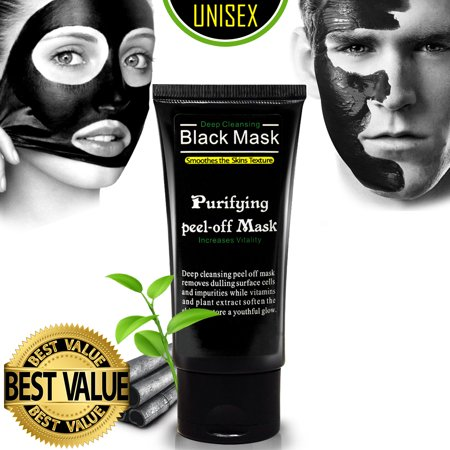 Ultimate Purifying Black Mask for Men & Women, Peel Off Blackhead Remover Activated Charcoal Carbon Face Mask for Acne, Oil Control, and Wrinkle Reduction