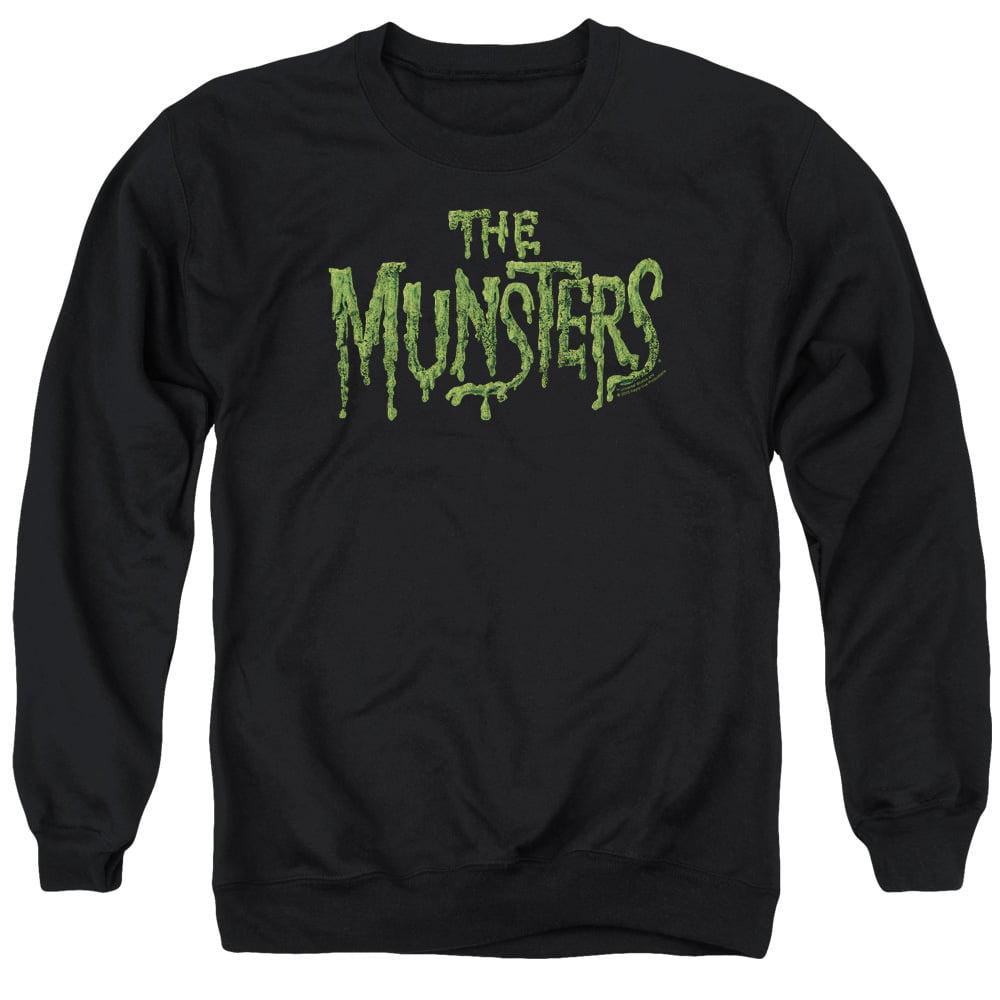 Munsters Distress Logo Mens Crewneck Sweatshirt