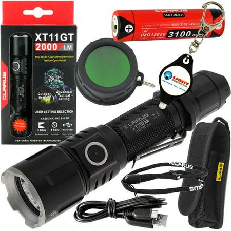 KLARUS XT11GT Tactical Flashlight Kit - Black