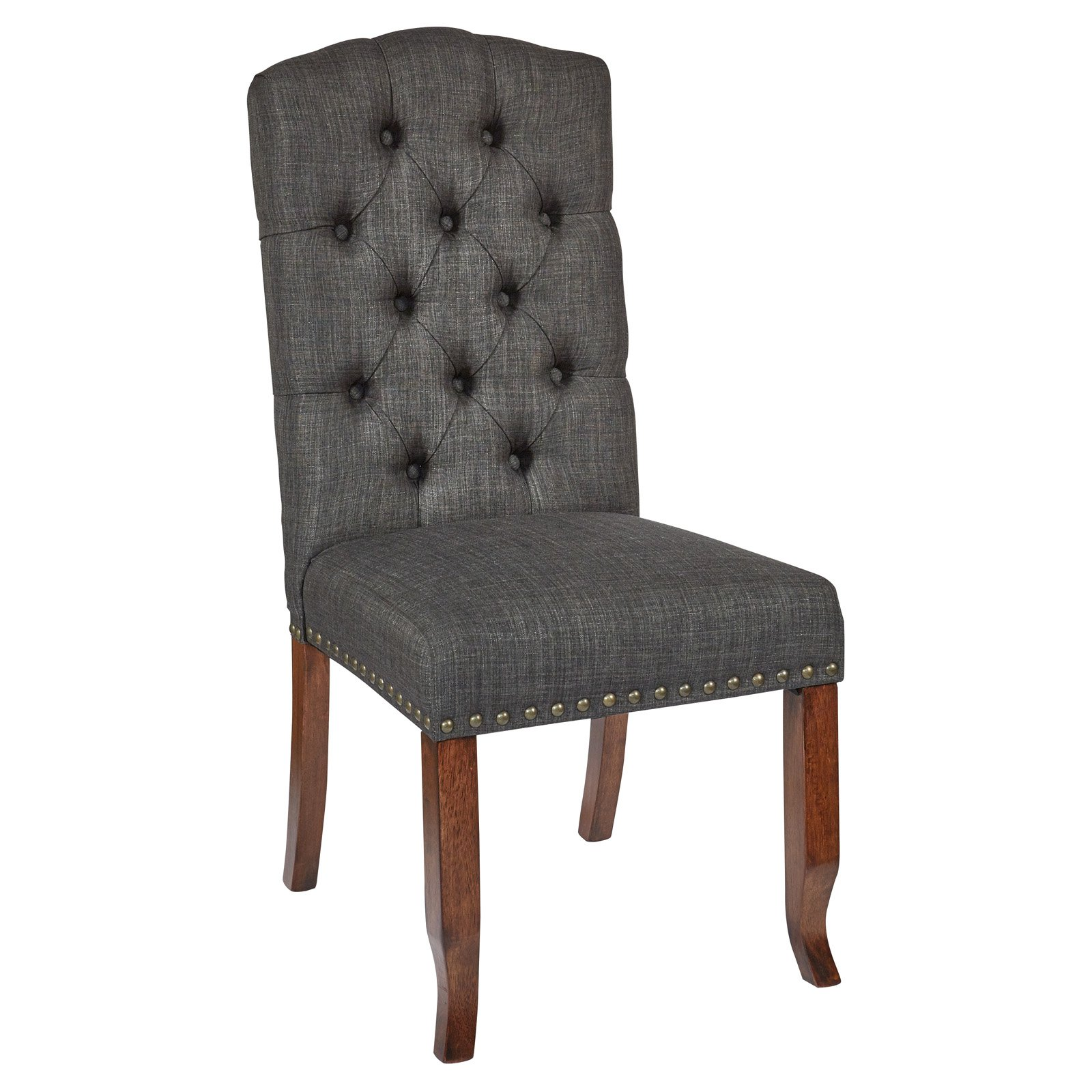Avenue Six Jessica Tufted Dining Chair with Bronze Nailheads and Coffee Legs, K D, Various Colors by Generic