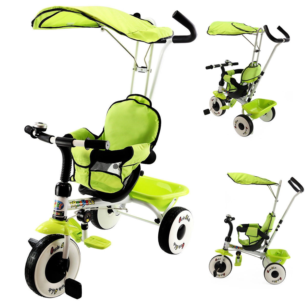 Costway 4-In-1 Kids Baby Stroller Tricycle Training Learn...