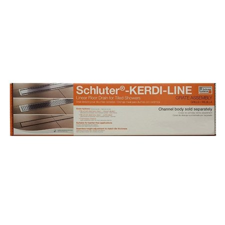 "Kerdi-Line 3/4"" Frame, 32"" Perforated Grate Assembly (KL1B19EB80)"