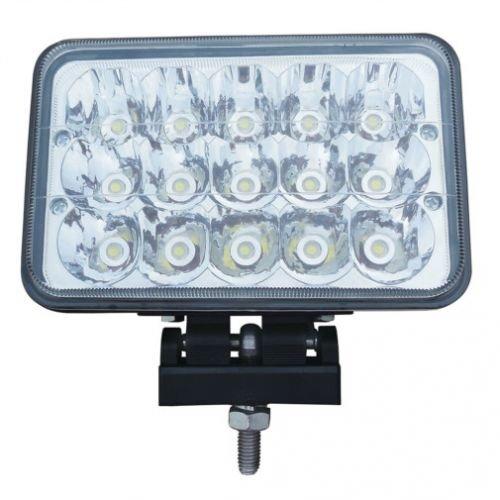 LED Work Light - 45W, Rectangular, Hi Lo Beam , Deutz, International, 146512C91, White