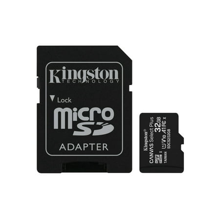 Kingston 32GB microSDHC Canvas Select Plus 100MB/s Read A1 Class10 UHS-I Memory Card + Adapter (Price Of Sd Card 32gb In India)