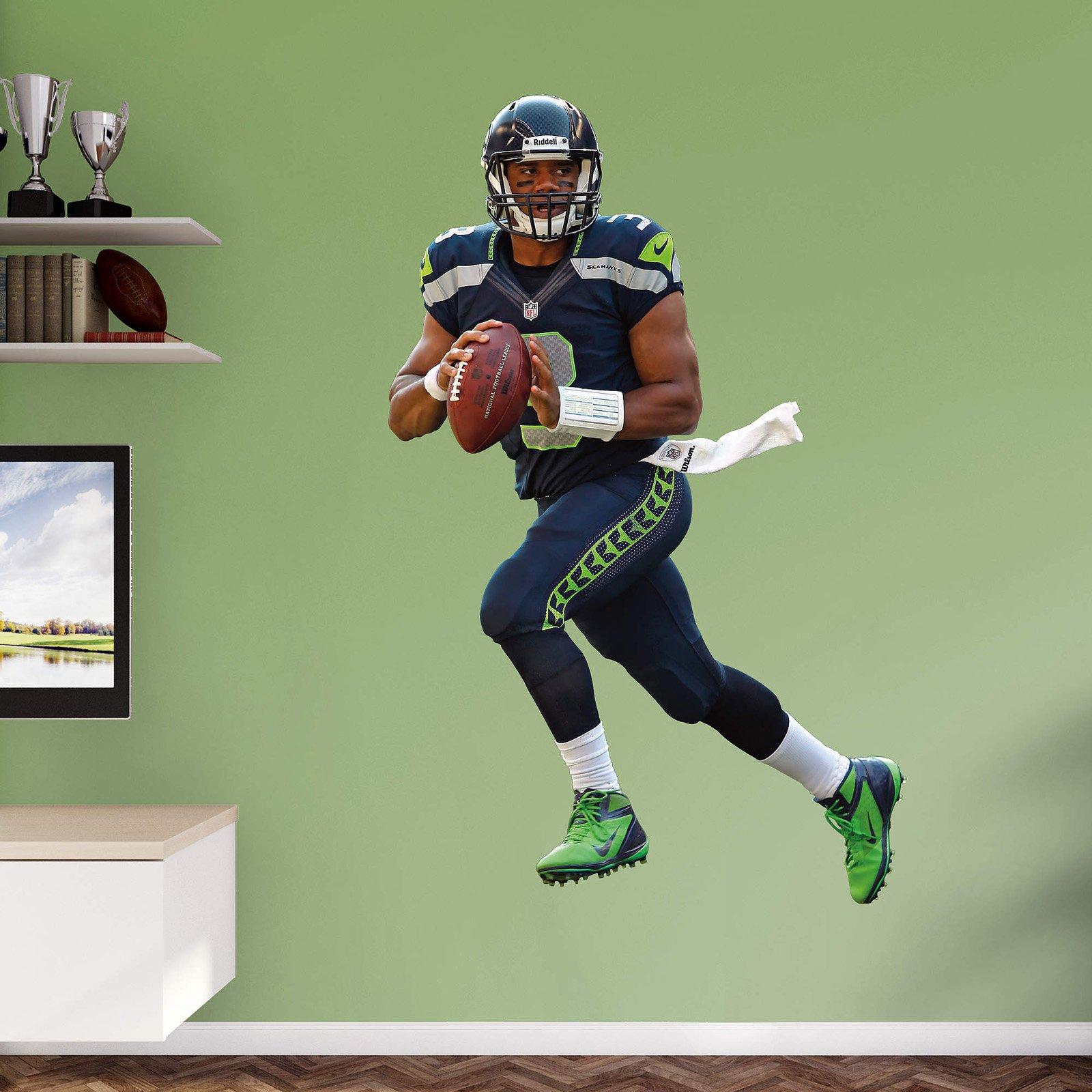 Fathead NFL Seattle Seahawks Russell Wilson Wall Decal