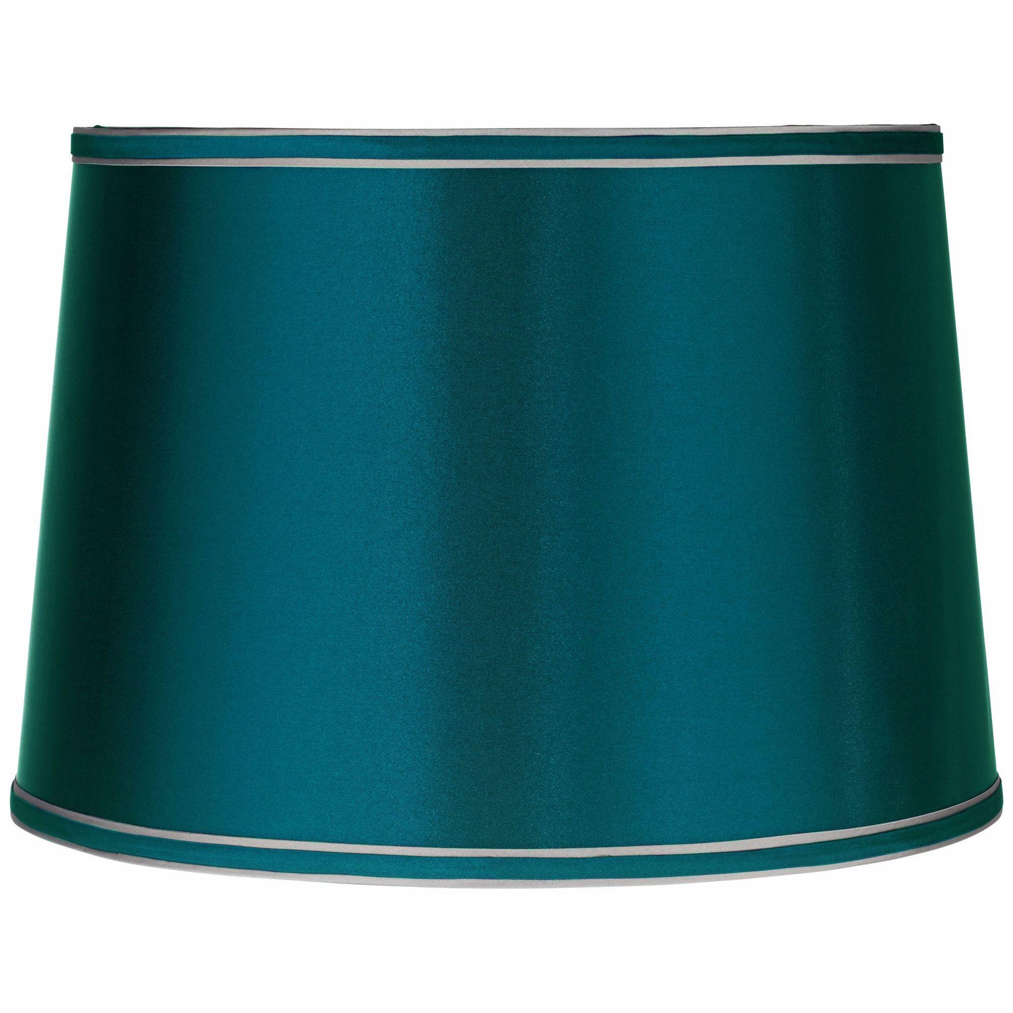 Brentwood Sydnee Satin Teal Blue Drum Lamp Shade 14X16x11 (Spider)