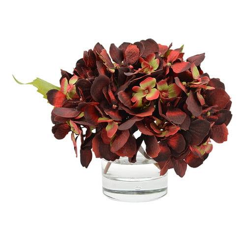 Charlton Home Hydrangea Bouquet in Water Floral Arrangement
