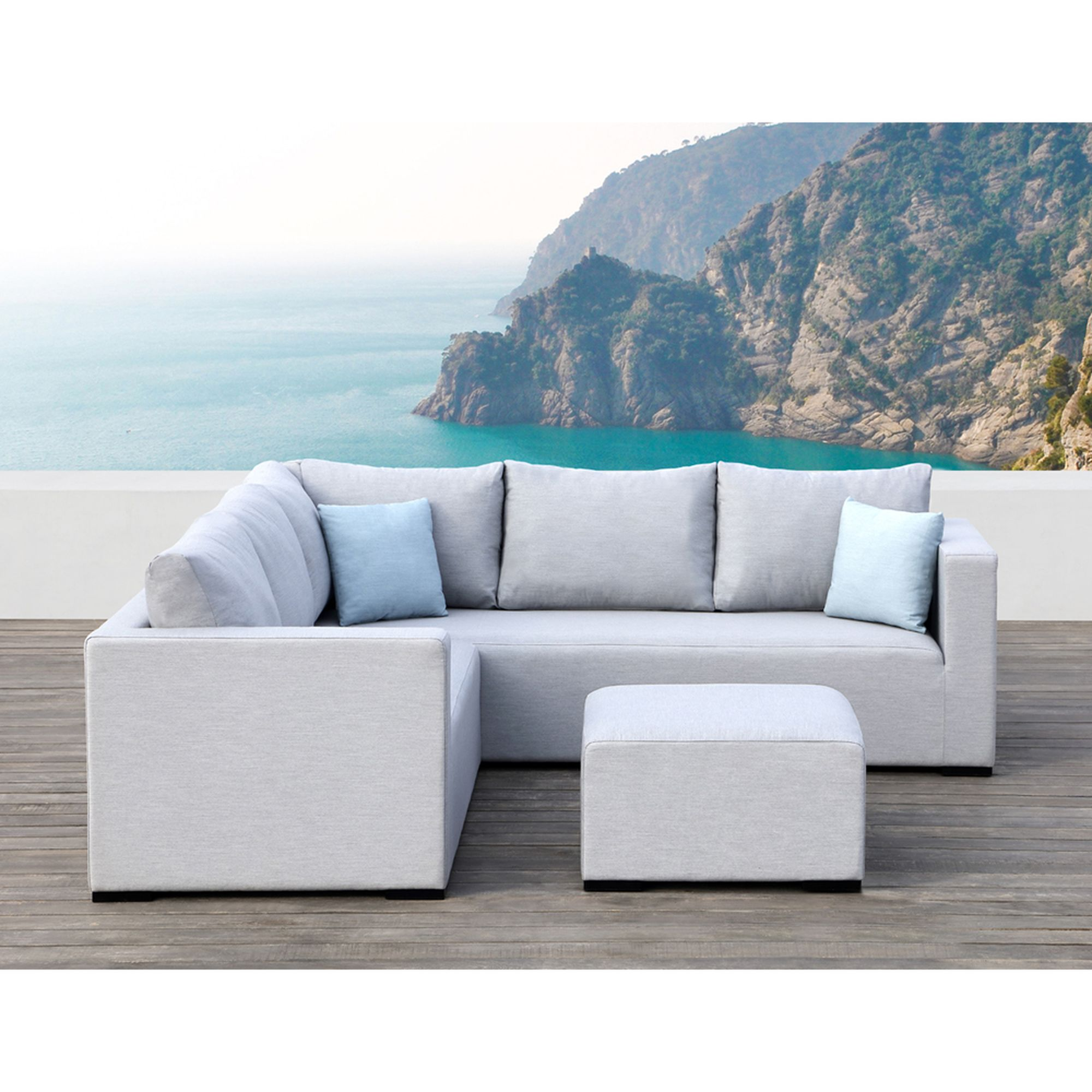 Ove Decors Ego Pieces Sectional Blue Mineral Blue