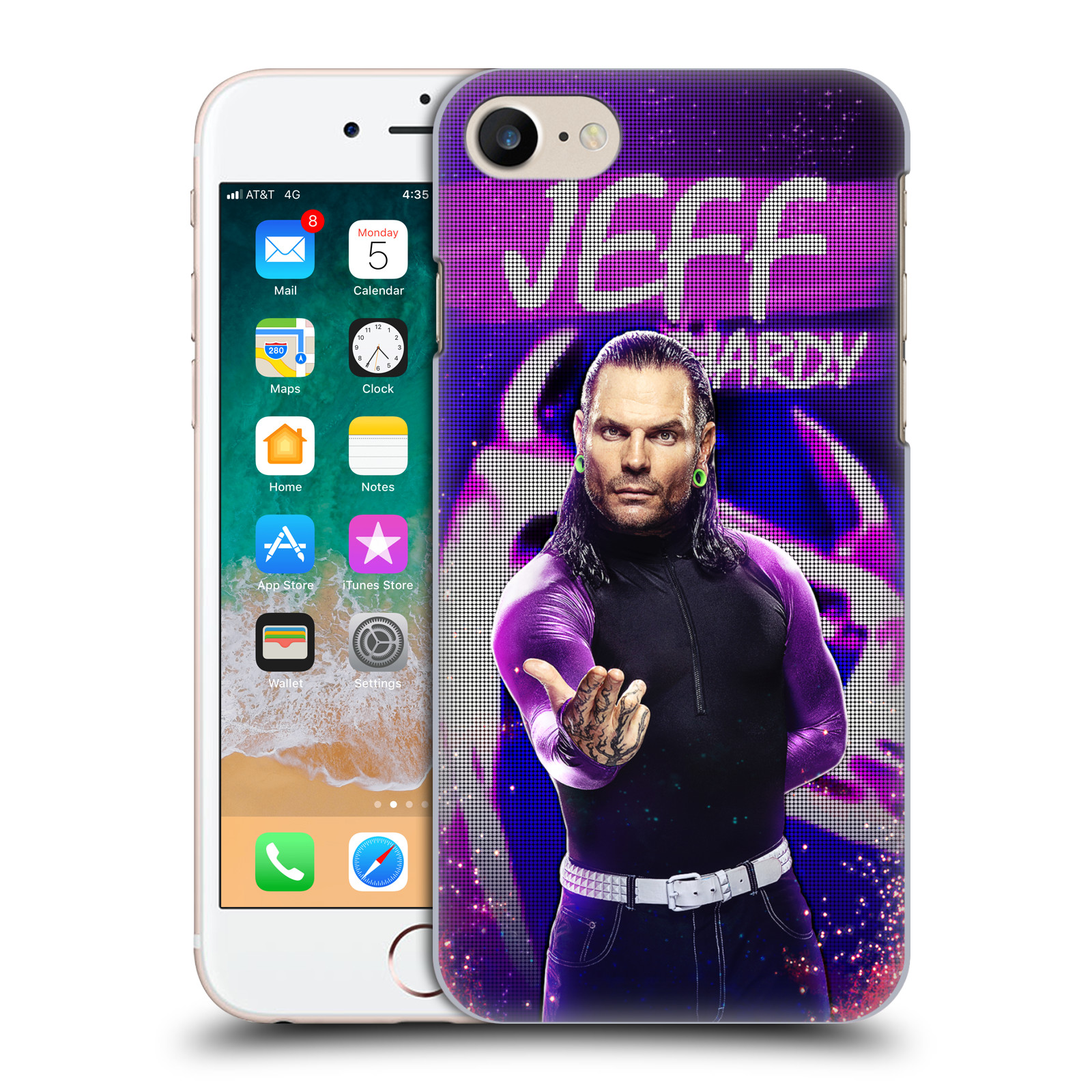 OFFICIAL WWE JEFF HARDY HARD BACK CASE FOR APPLE IPHONE PHONES