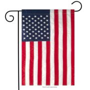 "Embroidered American Flag Garden Flag Stars & Stripes USA 12.5"" x 18"""