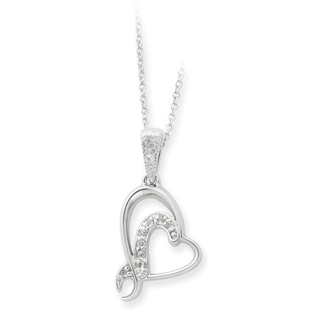 Solid 925 Sterling Silver Heart A Gift For My Sister/ For My Bridesmaid 18in Necklace Chain 18