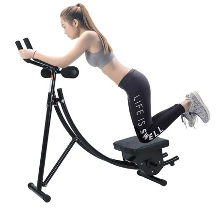 bbf30e7140 Abs Abdominal Exercise Machine Ab Crunch Coaster Body Shaper with LCD  Monitor Max 265llbs Core Fitness Home Gym Indoor Workout Equipment -  Walmart.com