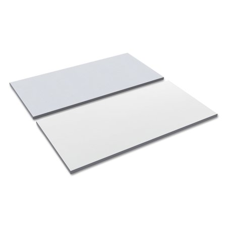 Alera Reversible Laminate Table Top, Rectangular, 47 5/8w x 23 5/8d, White/Gray - White Table Top