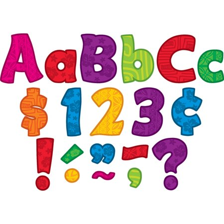 SURFS UP FUNTASTIC 4IN LETTERS COMBO (Funtastic Frogs Numbers)