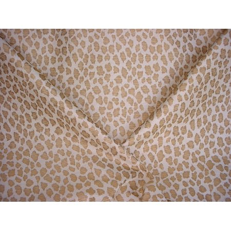 43W12- Brown / Gold Cheetah / Leopard Tapestry Jacquard Designer Upholstery Drapery Fabric - By the Yard