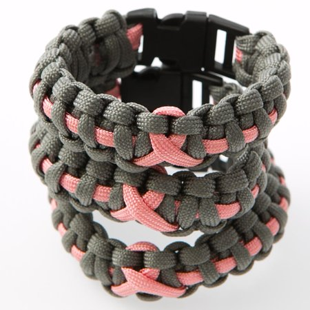 Breast Cancer Awareness Paracord Bracelets (Cancer Bracelets)