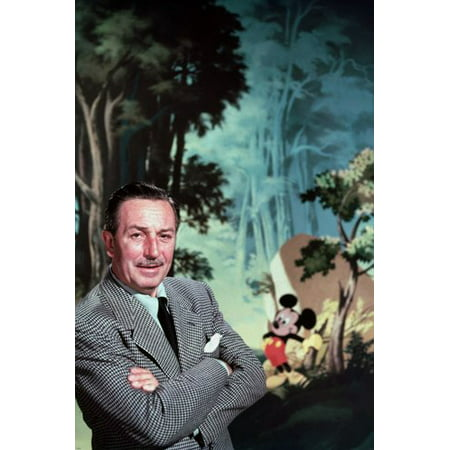 Walt Disney With Mickey Mouse Poster Classic Rare Collector'S Item 24X36