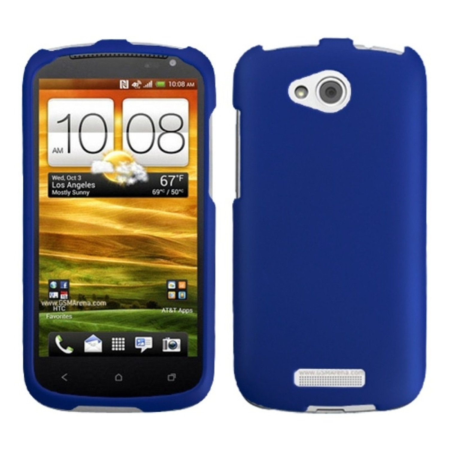 Insten Titanium Solid Dark Blue Phone Case for HTC: One VX