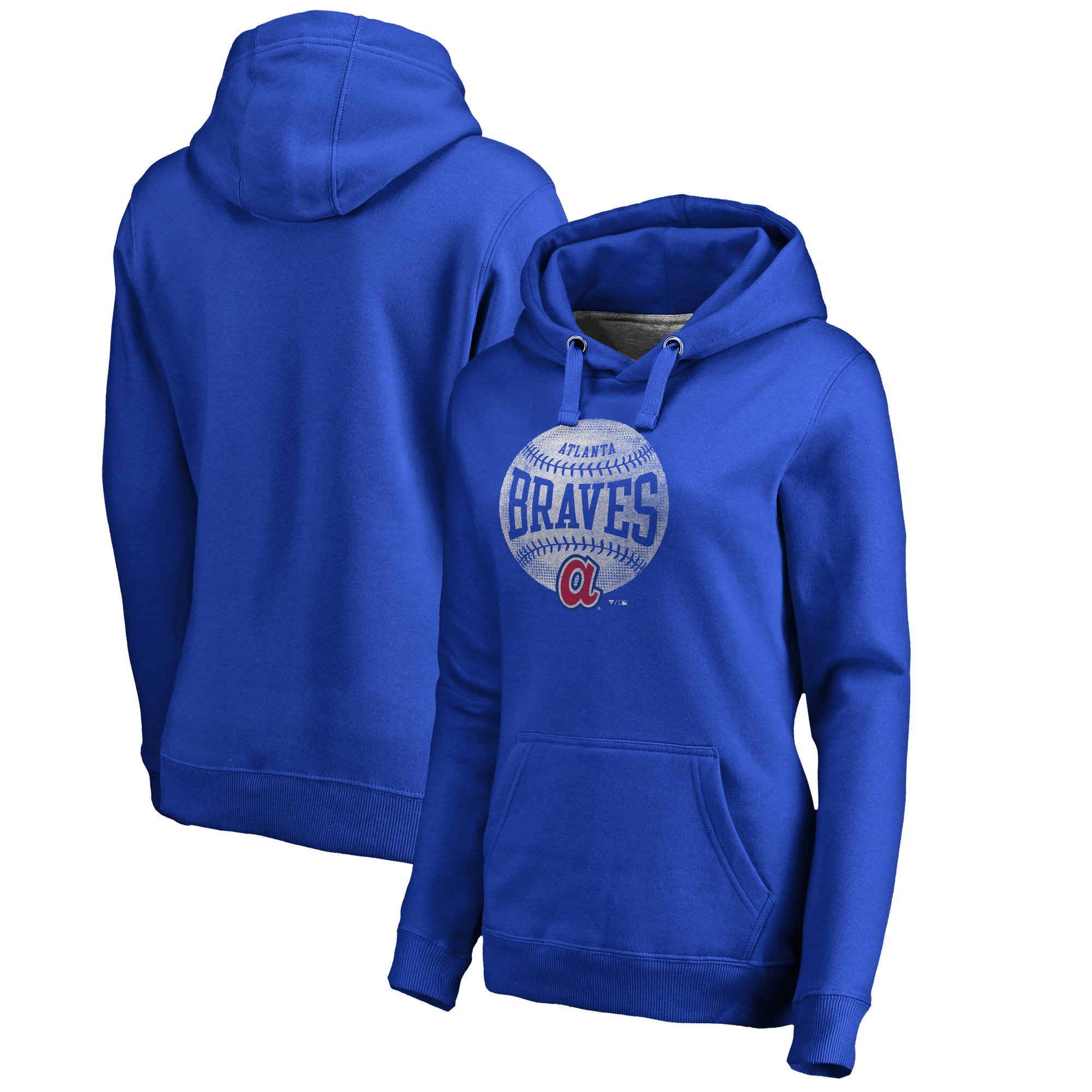 Atlanta Braves Fanatics Branded Women's Cooperstown Collection Slider Pullover Hoodie - Royal