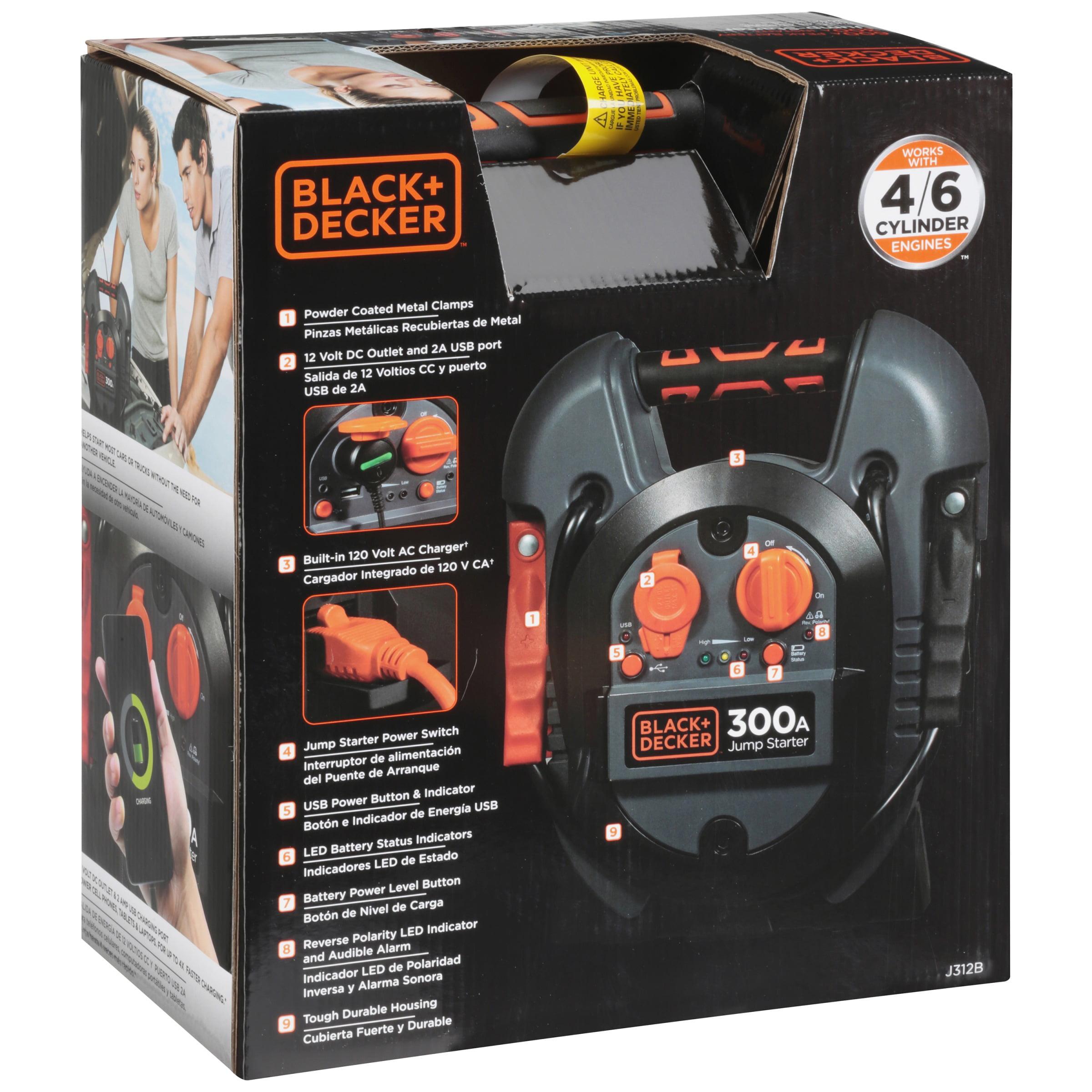 Black Decker 600a Peak Battery 300a Instant Jump Starter Box Black And Decker Nw7220b1 Hand Vacuum