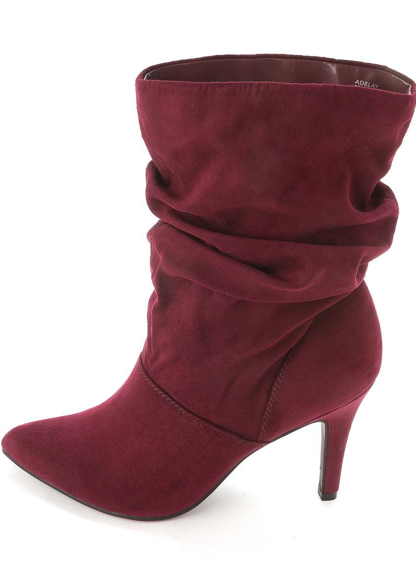 Style /& Co Adelay Women US 6 Burgundy Mid Calf Boot