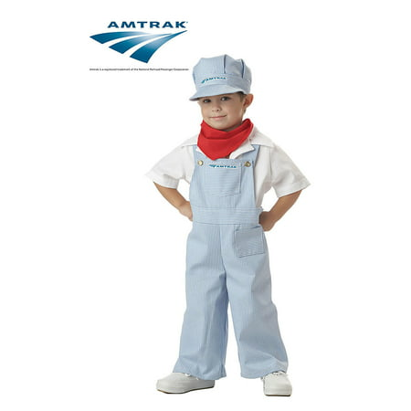 Amtrak Train Engineer Toddler Halloween Costume, Size 3T-4T](Oregon Trail Costume)